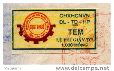 VIETNAM VIET NAM BIRTH CERTIFICATE (PAPER COPIES WITH REVENUE STAMP) CAN-THO PROVICE - Historische Documenten