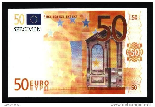 CP 50 Euros (N° 364) - Monnaies (représentations)