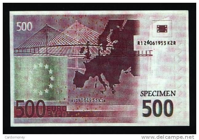 CP 500 Euros (dos) (N° 367) - Monnaies (représentations)