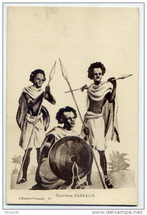 Somalie--Guerriers Dankalis  (dessin)  N° 15 L'Empire Français - Somalie