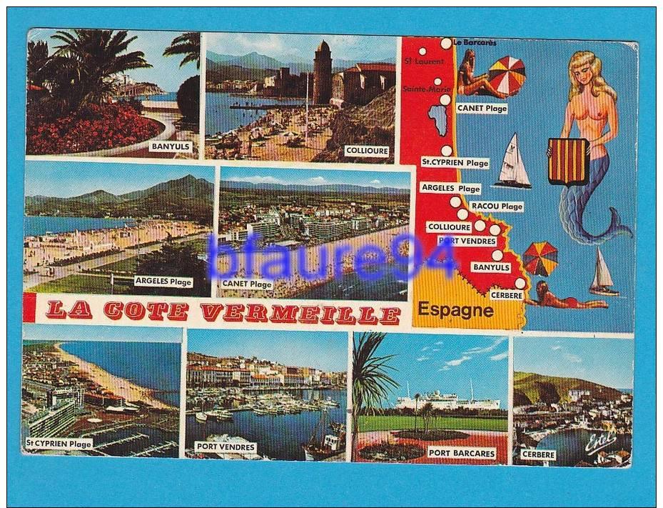 Cote Vermeille  8  Vues    Dessin De La Cote  Sirène    EDT / N°  Estel  565 - France