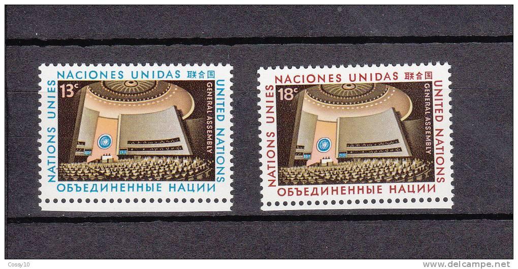 NATIONS  UNIES  NEW-YORK  1978      N° 292 - 293   NEUFS**   CATALOGUE YVERT - New York -  VN Hauptquartier