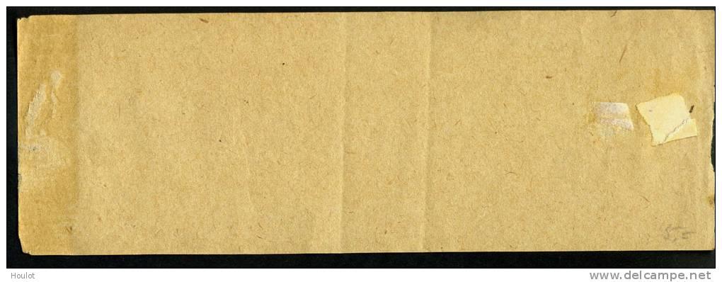 Ganzsache Streifband Mi.N°s 3 Yvert N° BJ1 *, Format =  16,2 X 5,6 Cm Mit 2 Farbigen Trennungslinien , - 1900-29 Blanc