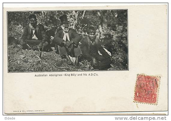Australian Aborigines King Billy And His A.D.C.´ S Swain And Co Sydney Undivided Back Not Used - Australie