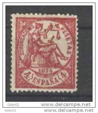 ES151-L2696TO.ALEGORIAS   DE LA  JUSTICIA.1874.(Ed 151F**)sin  Charnela .LUJO.CERTIFICADO. - Sellos