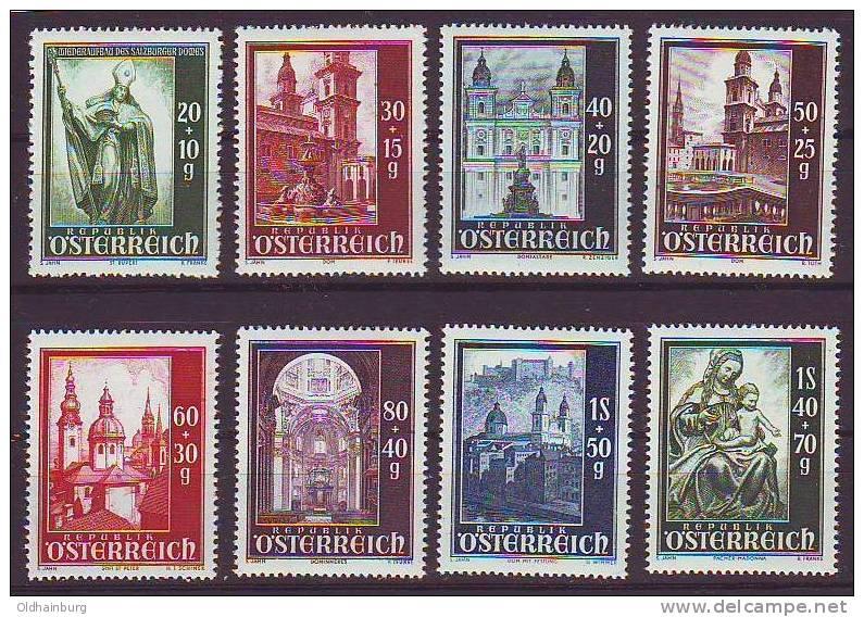 Österreich 1948, ANK 931- 938, Wiederaufbau Des Salzburger Domes, Postfrisch ** - 1945-60 Ungebraucht