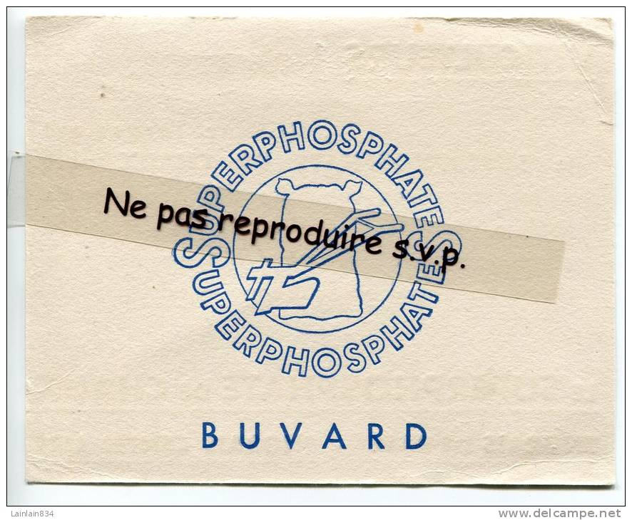 -  Buvard - Superphosphate - Blanc, Viticulteurs, Bon état. - Buvards, Protège-cahiers Illustrés