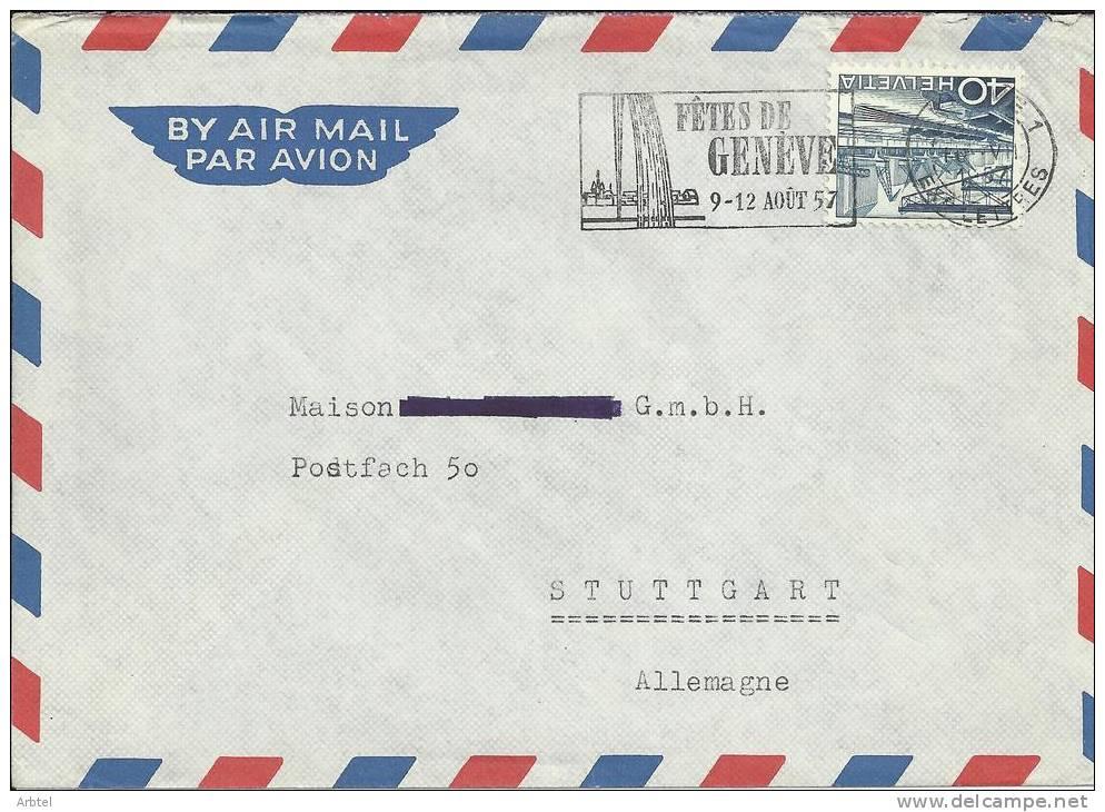 SUIZA CC MAT FIESTAS DE GINEBRA GENEVE 1957 - Fiestas