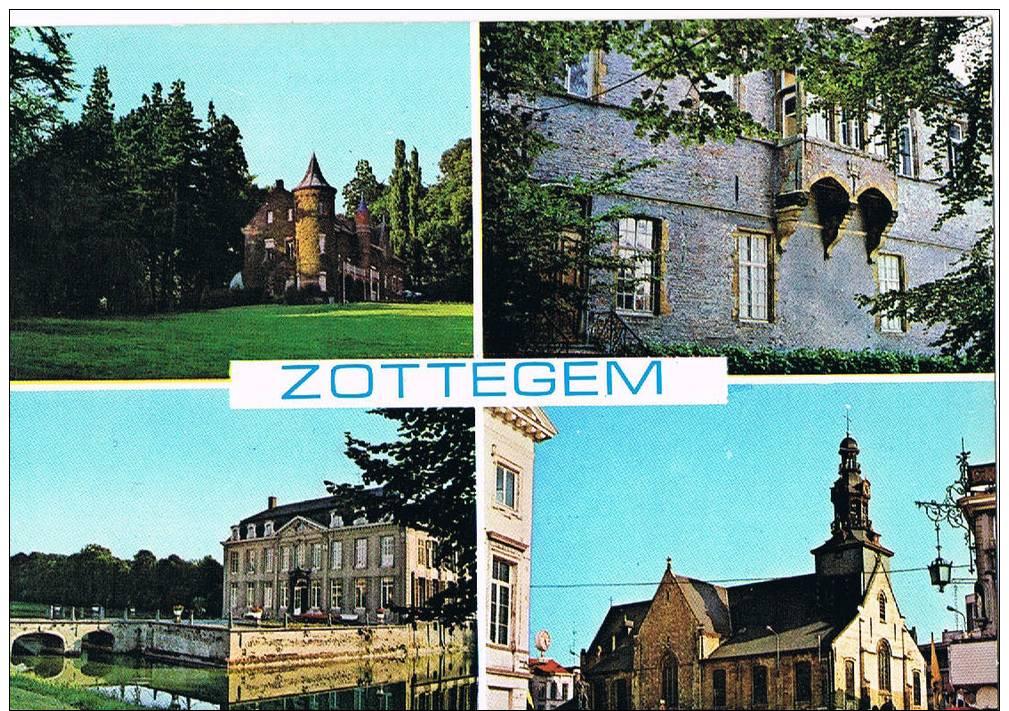 Zottegem Dekenale Kerk  Standbeeld Graaf Van Egmont Kasteel Leeuwergem Domein Breivelde - Zottegem
