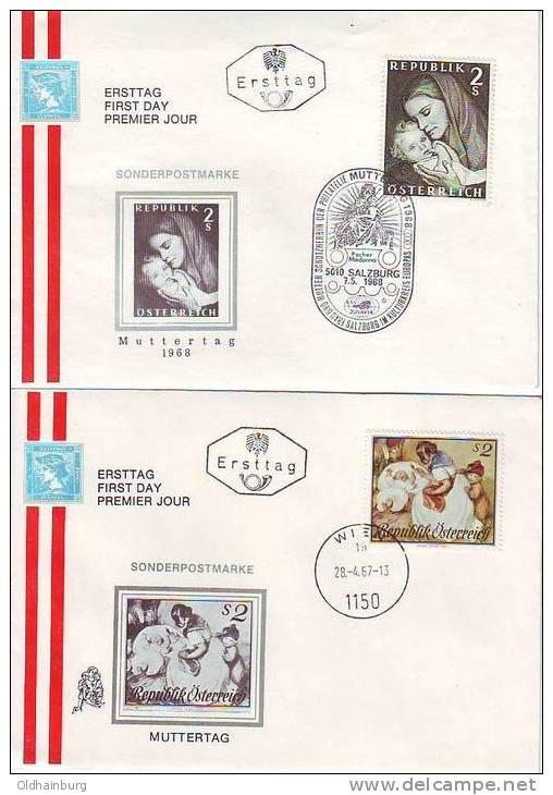 302g: Muttertag 1967 Und 1968, 2 Belege Aus Österreich - Muttertag