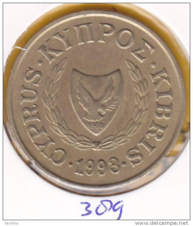 @Y@  Cyprus  20 Ct  1993     (389) - Chypre
