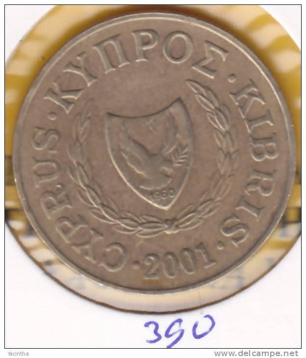 @Y@  Cyprus  20 Ct  2001     (390) - Chypre