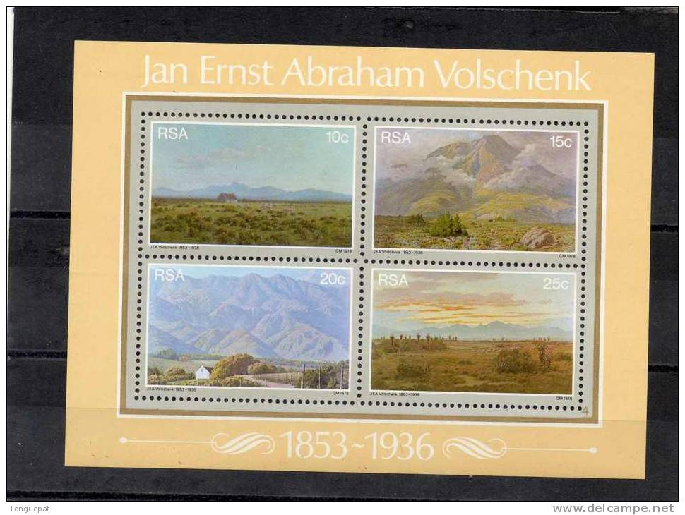 AFRIQUE Du SUD : Peintures De Jan Ernst Abraham Volschenk : Paysages - Peinture - Art - Blocs-feuillets
