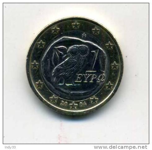 - EURO GRECE . 1E. 2004 . - Grèce