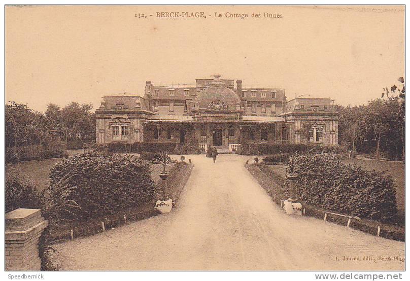 19988 Berck -palage , Le Cottage Des Dunes-132 Journé éd ; - Berck