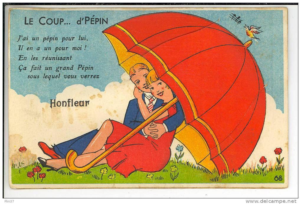 HONFLEUR - Carte à Système Dépliant - Coup D'Pépin - Honfleur