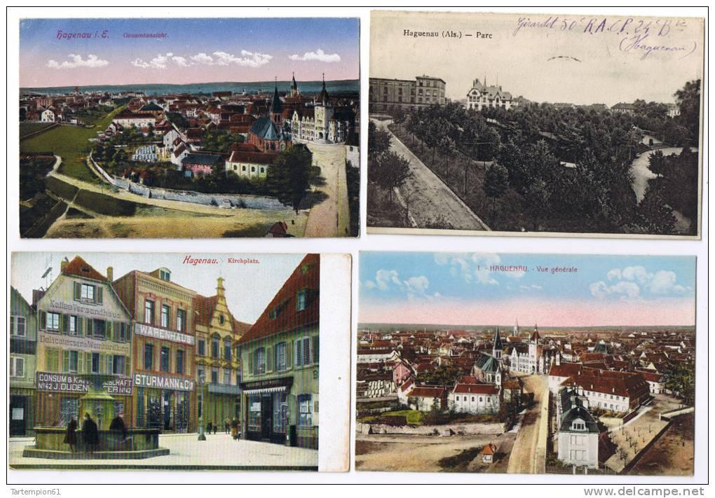 Haguenau Hagenau 25 CPA  Courrier Militaire TBE 7 Scans à Visiter - Haguenau