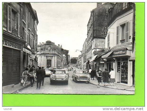 """95 ARGENTEUIL : Rue Paul Vaillant Couturier  ( Banque Crédit Lyonnais - Tabac  - Cinéma )N°9.308 """"abeille"""" - Banques"""