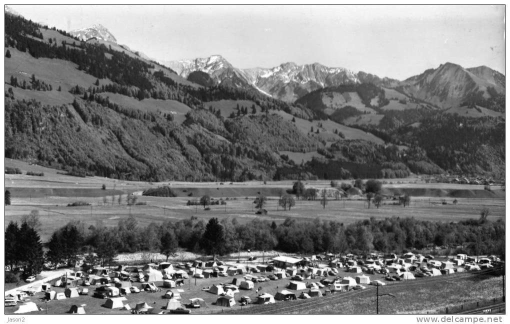 Carte Photo Dentelee ENNEY( Camping Tcs Et Chaine Des Vanils) 1973 HTE GRUYERE - Suisse