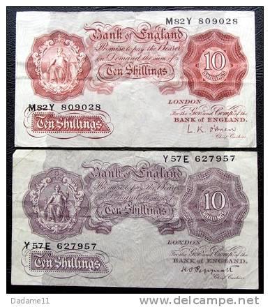 Lot De Deux Billets De La Banque D'Ecosse 20 Shillings - [ 3] Scotland