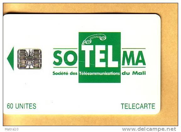 MALI 1994 CHIP CARD TELECARTE SOTELMA 60 UNITES UNITS LOGO MORENO 1 TYPE - Mali