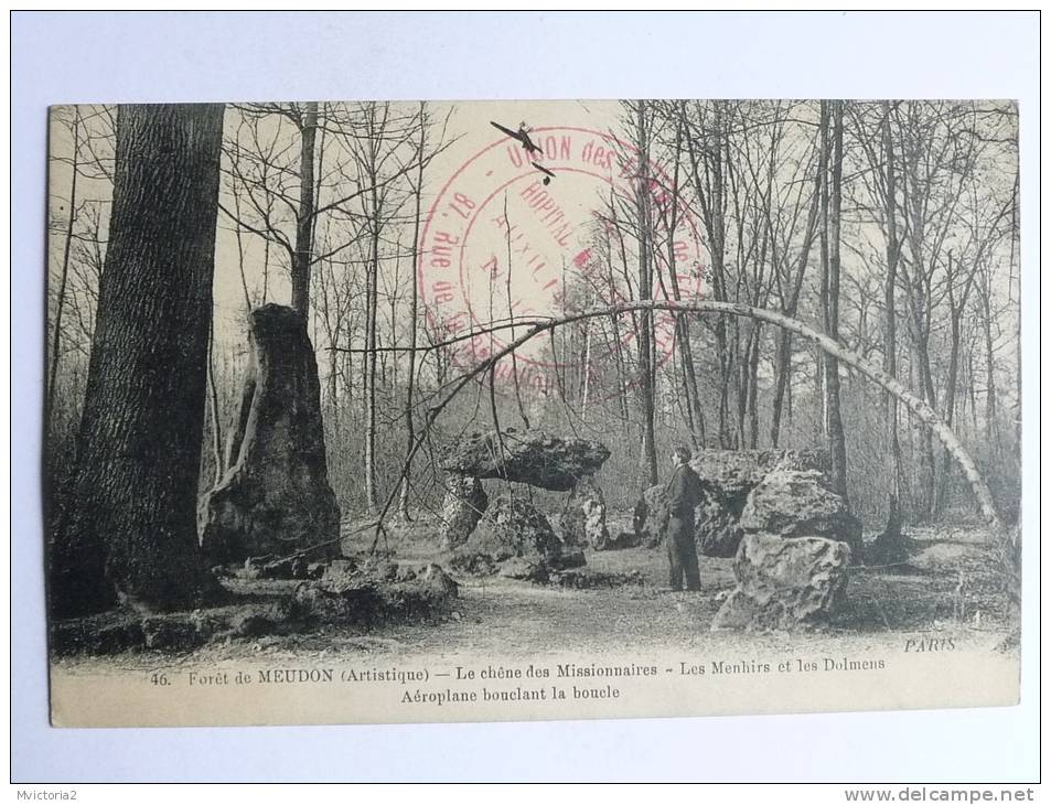 Foret De MEUDON - Le Chene Des Missionnaires, Les Menhirs Et Dolmens, Aéroplane Bouclant La Boucle - Meudon