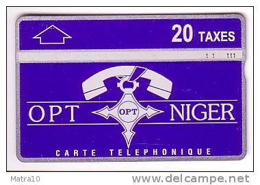 NIGER TELECARTE LANDIS AND GYR PHONECARD CROIS AGADEZ CROSS  20 TAXES TRES VERY RARE 1994-5 - Niger