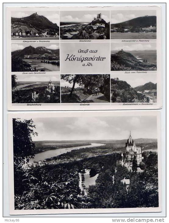 Allemagne--KOENIGSWINTER-   -env  1950-55--Lot De 2 Cartes Semi-modernes En Excellent  état--  Toutes Scannées - Koenigswinter