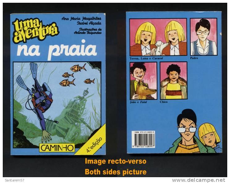 Livre Book Livro Uma Aventura Na Praia Une Aventure à La Plage 4ème Édition N° 33 Ouvrage En Portugais 2000 CAMINHO - Livres, BD, Revues