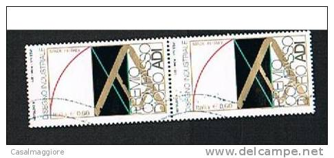 ITALIA 2011- USATO - DISEGNO INDUSTRIALE - COPPIA ORIZZONTALE - VALORE DA EURO 0.60 - - 6. 1946-.. Repubblica