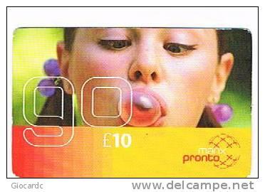 ISLE OF MAN - MANX TELECOM (GSM  RECHARGE) -   PRONTO MANX 10  YOUNG GIRL   - USED  - RIF. 7791 - Isola Di Man