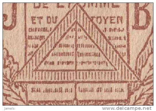 Plumbline, Freemasonry, Masonic Symbol, Franc Maçonnerie Paris La Loge Les Droits De L´Homme - Religion & Esotericism