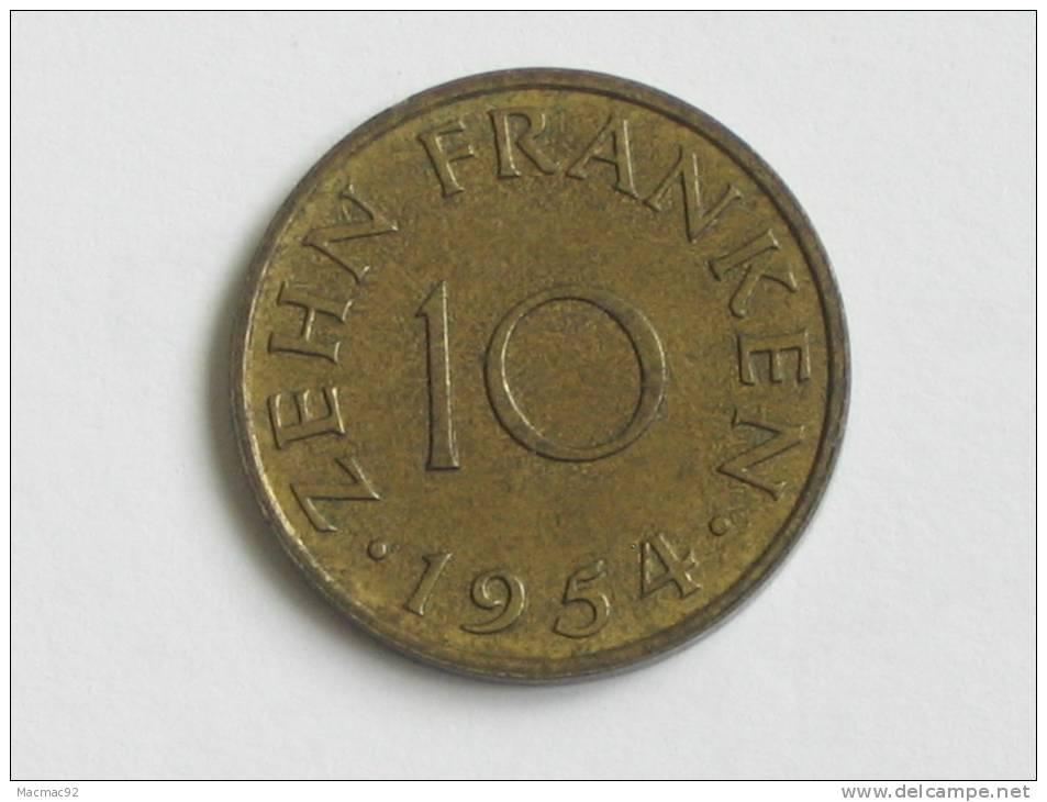 10 Franken 1954 - SARRE - - Saar