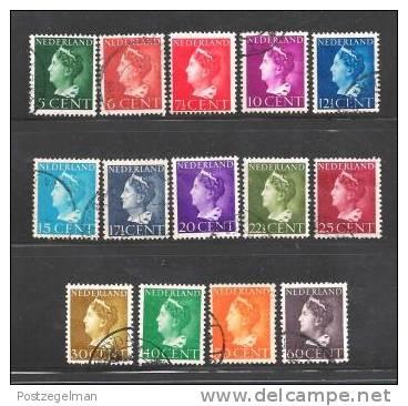 NEDERLAND 1940 Wilhelmina Serie 332-345 Used  # 1134 - Used Stamps