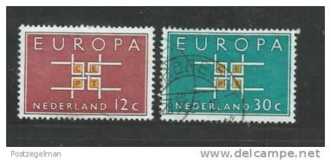 NEDERLAND 1963 Europa Zegels Used 800-801 # 1210 - Period 1949-1980 (Juliana)
