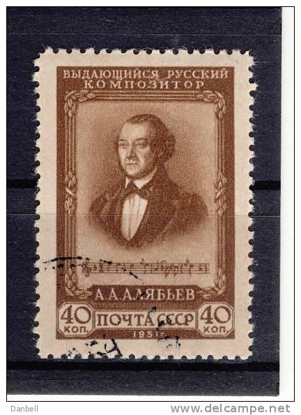 URSS12) 1951  Compositore Aljabjev Unificato 1575  Used - Usati