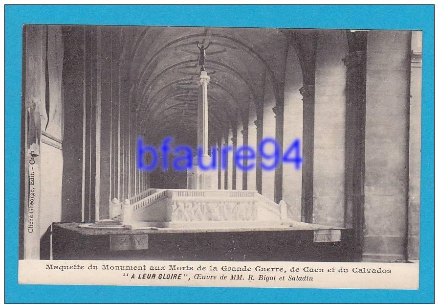 Caen   Maquette Du Monument Aux Morts De La Grande Guerre     EDT / N° - Caen