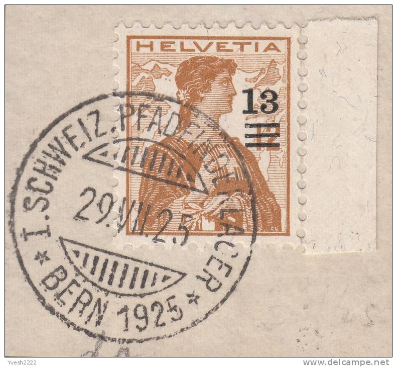 """Susse 1925. Oblitération Spéciale """"armée Scoute"""" - Scouting"""