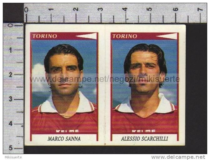 F57 FIGURINA CALCIATORI PANINI 1998-99 MARCO SANNA ALESSIO SCARCHILLI TORINO N. 597 - Panini