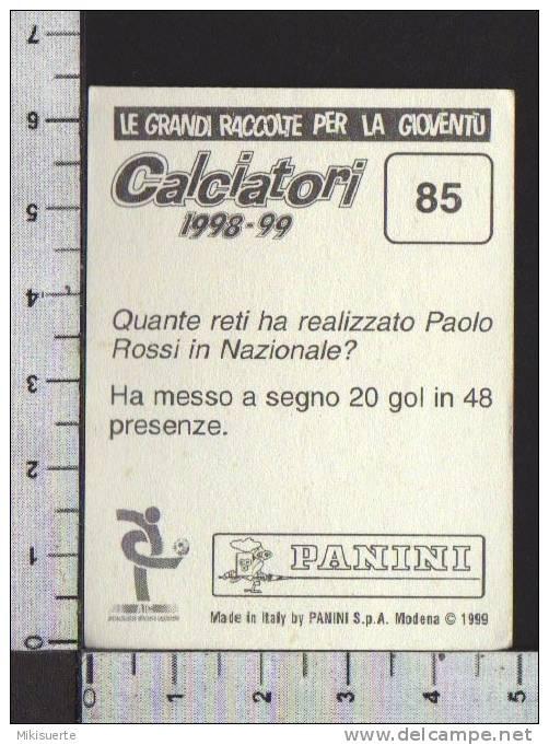 F100 FIGURINA CALCIATORI PANINI 1998-99 GIANLUCA PORRO EMPOLI N. 85 - Panini