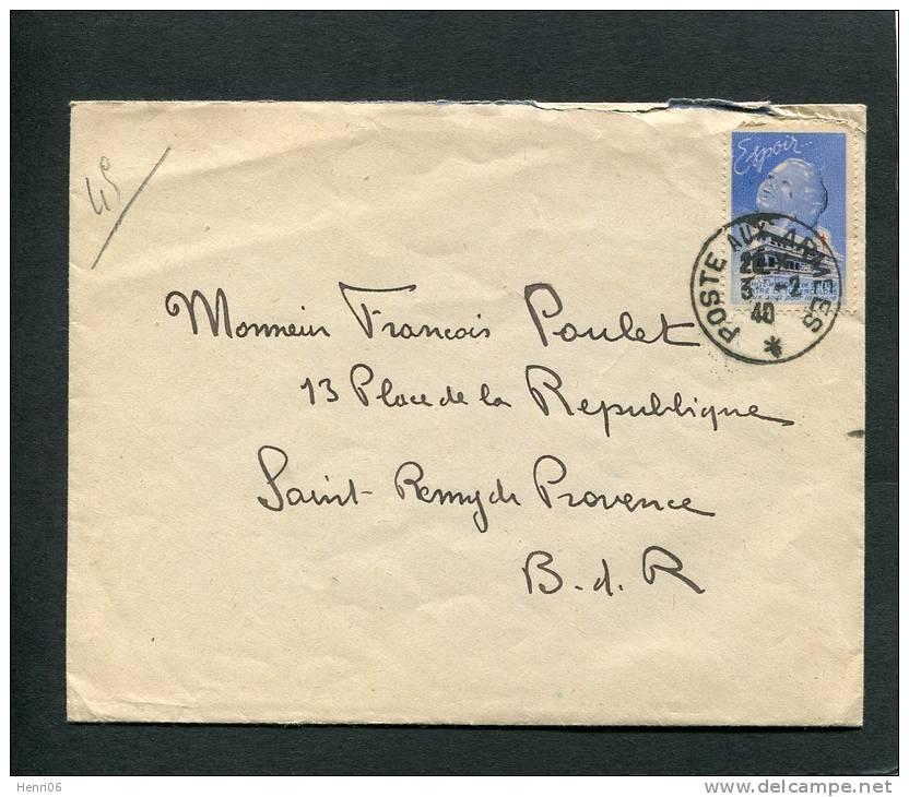 =*= Vignette Tuberculose Sur Lettre Avec Correspondance En Franchise Militaire Oblitérée Poste Aux Armées 3 2 1940 =*= - Covers & Documents