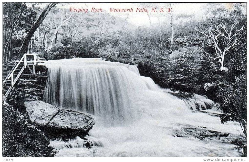 New Zealand, NEW SOUTH WALES, Weeping Rock, Wentworth Falls, Gelaufen 1910 Nach Germany, Sehr Seltene Karte - Neuseeland