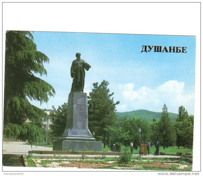 ZS22815 MOnument To The Poet Rudagi Dushanbe Not Used Perfect Shape Back Scan At Request - Tadjikistan