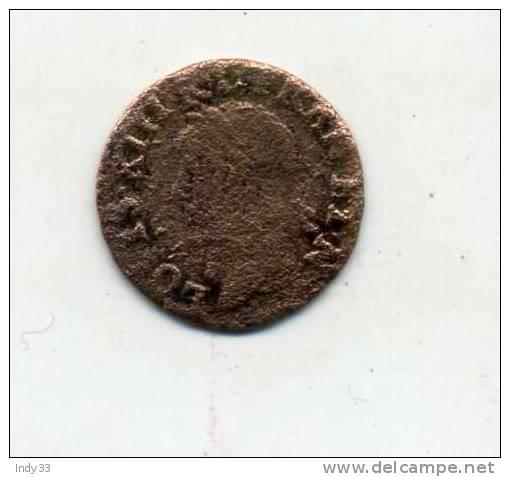 - FRANCE LOUIS XIII . DOUBLE TOURNOI 1643? . - 987-1789 Royal