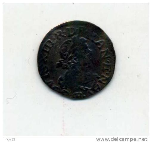 - FRANCE LOUIS XIII . DOUBLE TOURNOI 1659 . - 1610-1643 Louis XIII Le Juste