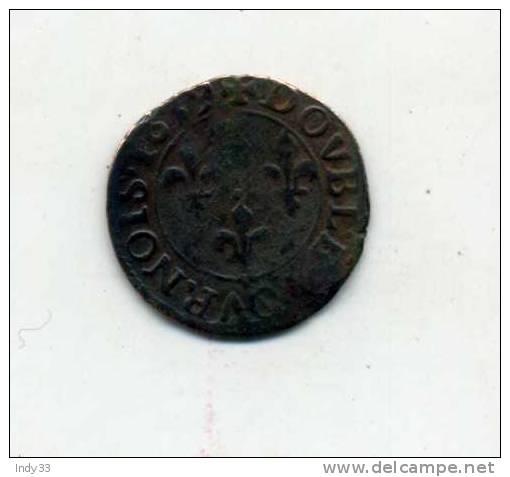- FRANCE LOUIS XIII . DOUBLE TOURNOI 1659 . - 1610-1643 Louis XIII. Le Juste