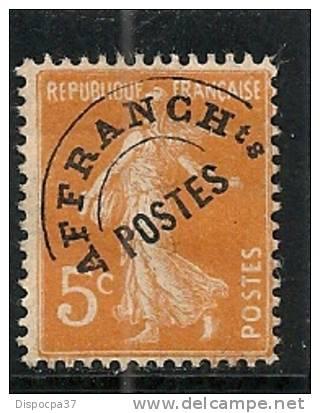 PREOBLITERE FRANCE N° 50  NEUF  AVEC   CHARNIERE  ( VOIR SCAN ) LOT 118213 - Préoblitérés