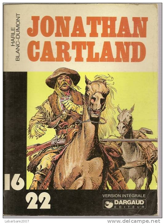 Coll. 16/22 N° 33  - JONATHAN CARTLAND   -  DARGAUD -  1978 - HARLE / BLANC-DUMONT - Jonathan Cartland