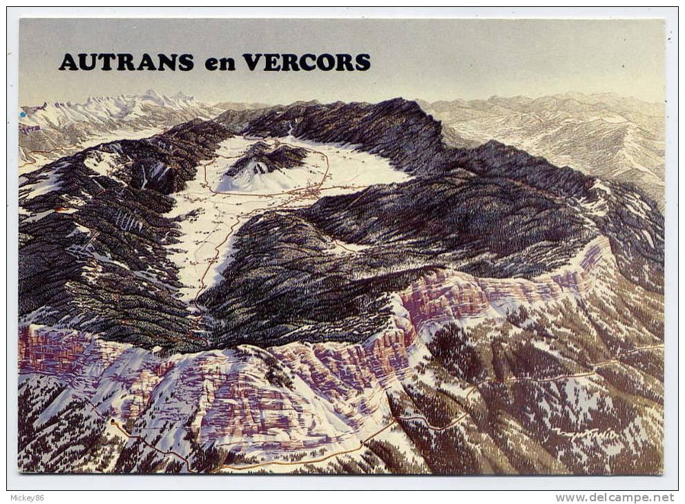 AUTRANS  EN  VERCORS--Dauphiné  Alt  1050m  --Panorama  ,cpm N° 38 M 49  éd André - Otros Municipios