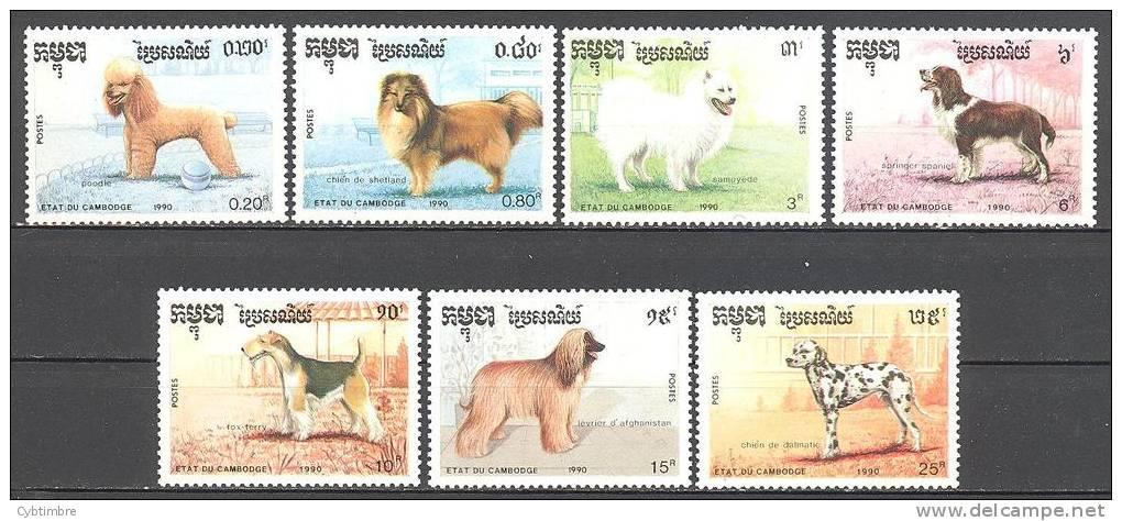 Cambodge: Yvert N°927/33**; Chiens - Cambodia